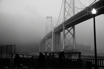 Bay Bridge in the fog